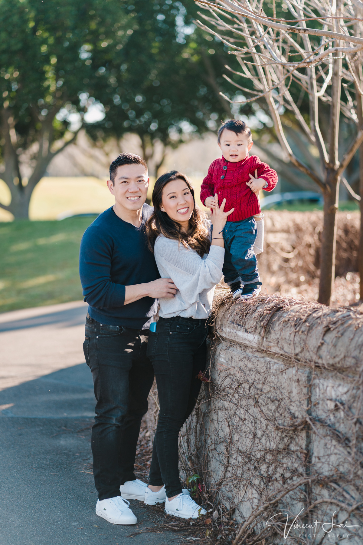 Winter Family Session at Bicentennial Park