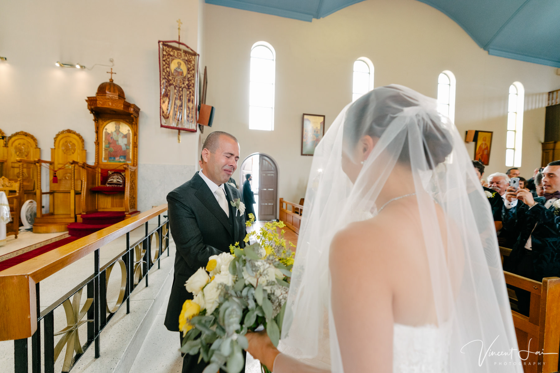 Wedding at St Nicholas Greek Orthodox Church and Sergeants Mess Reception
