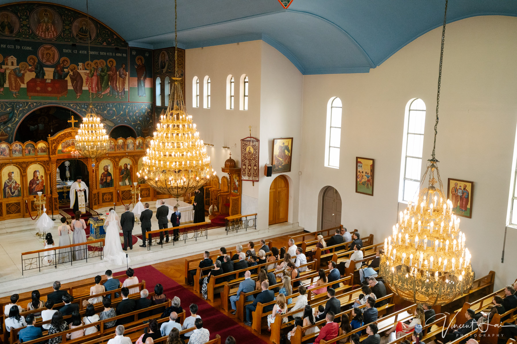 Wedding at St Nicholas Greek Orthodox Church