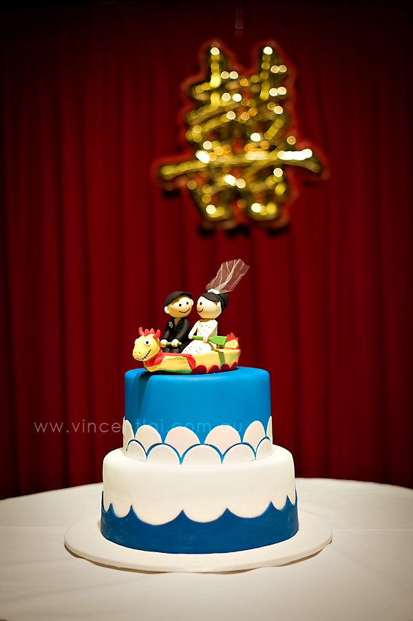 The awesome wedding cake by Funky Cakez