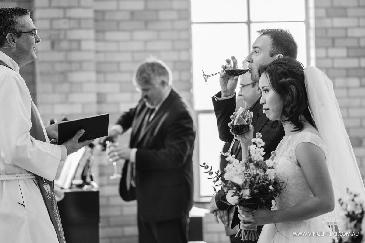 Red Wine Wedding Ceremomy