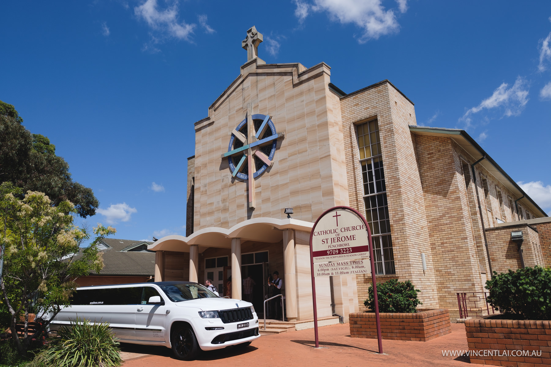 St Jerome's Catholic Church and Clarence House Wedding Reception