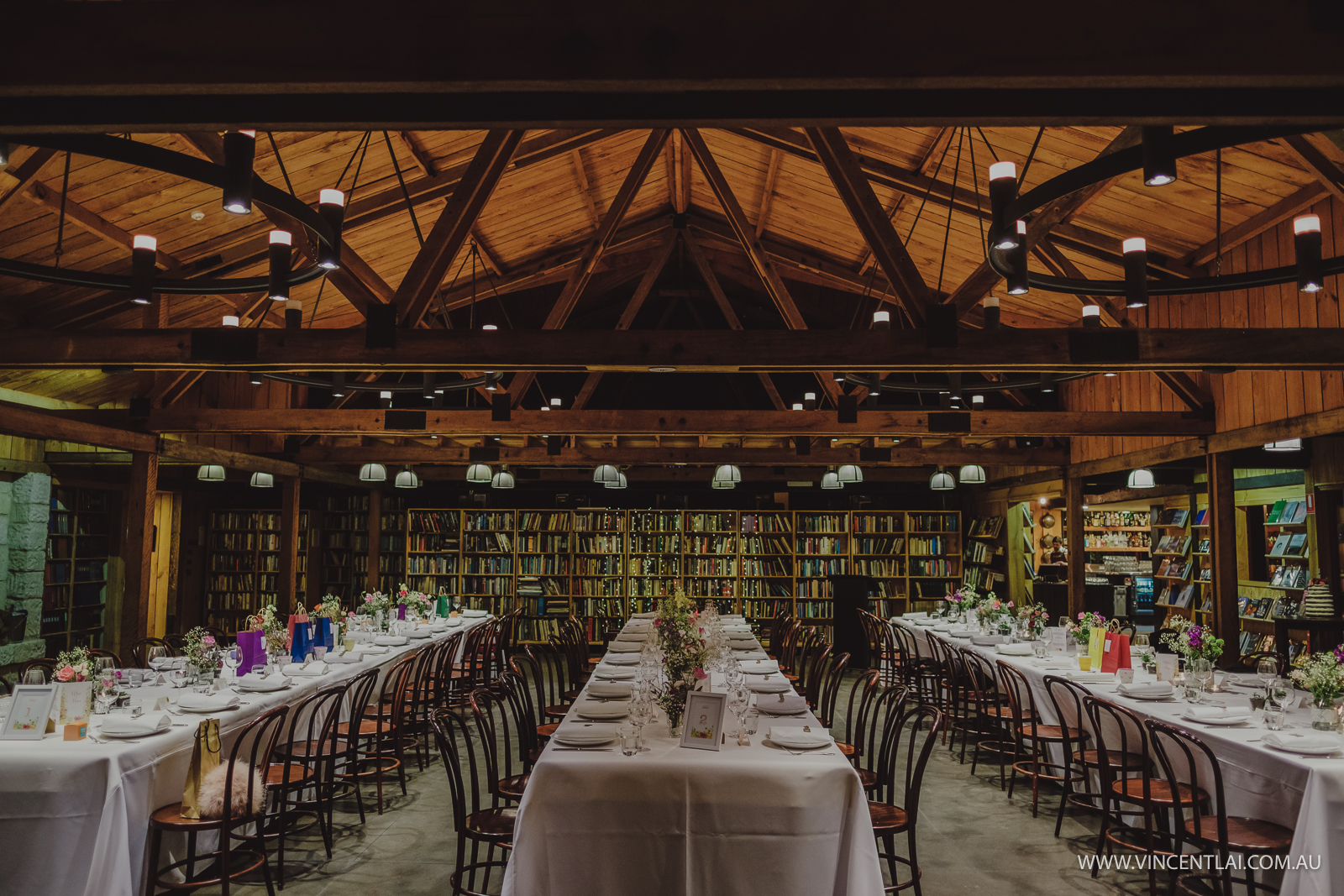 Bendooley Estate Book Barn Wedding
