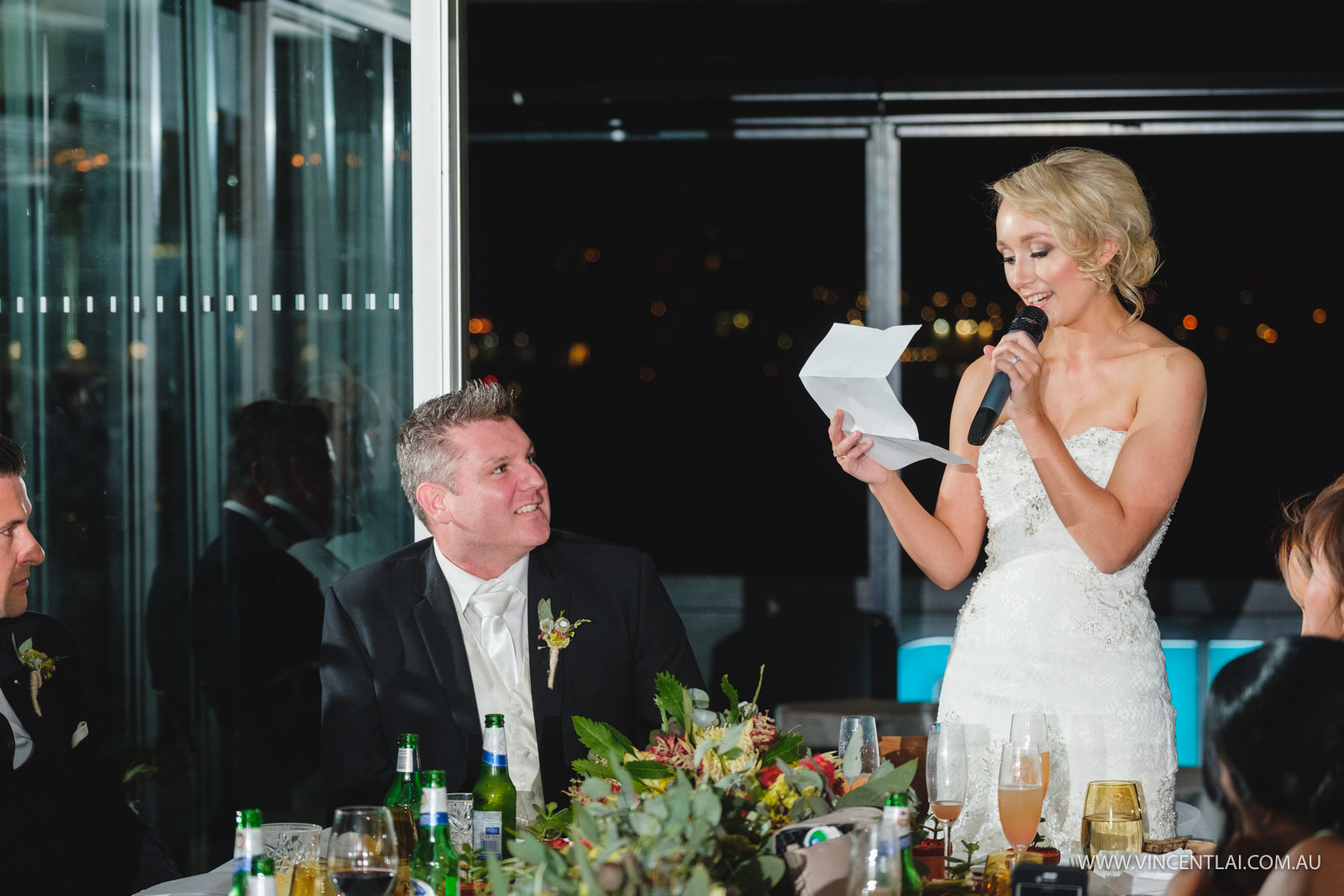 Aqua Dining Wedding Reception