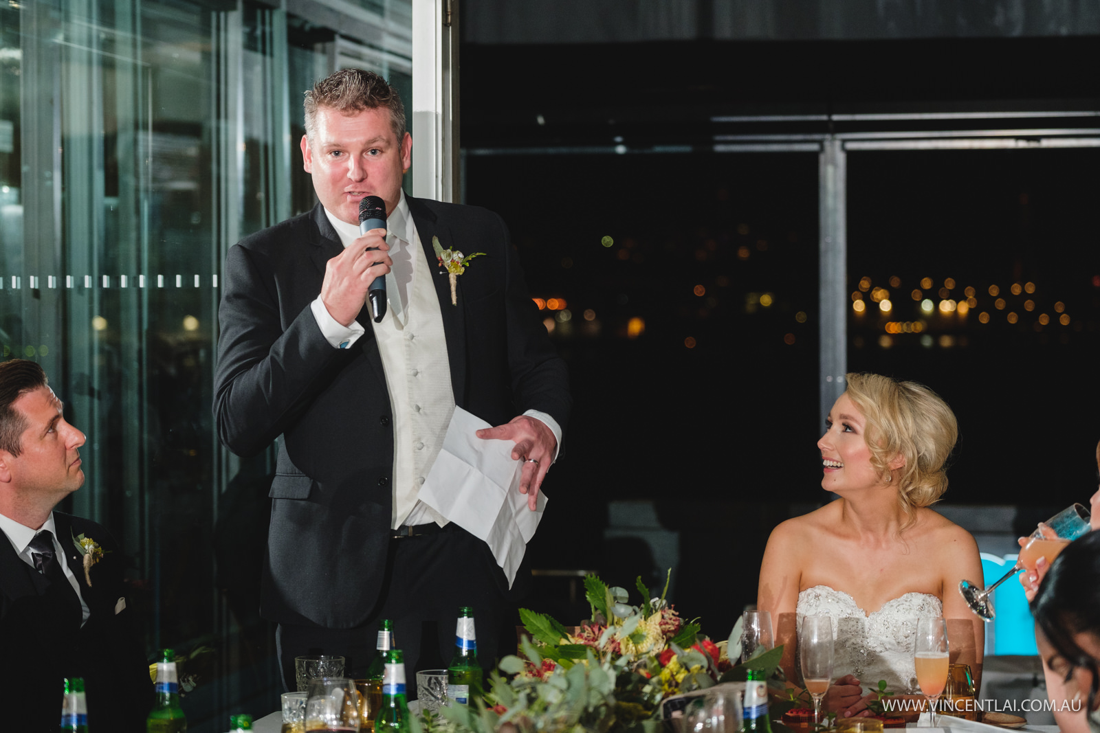 Aqua Dining Wedding Reception Photo