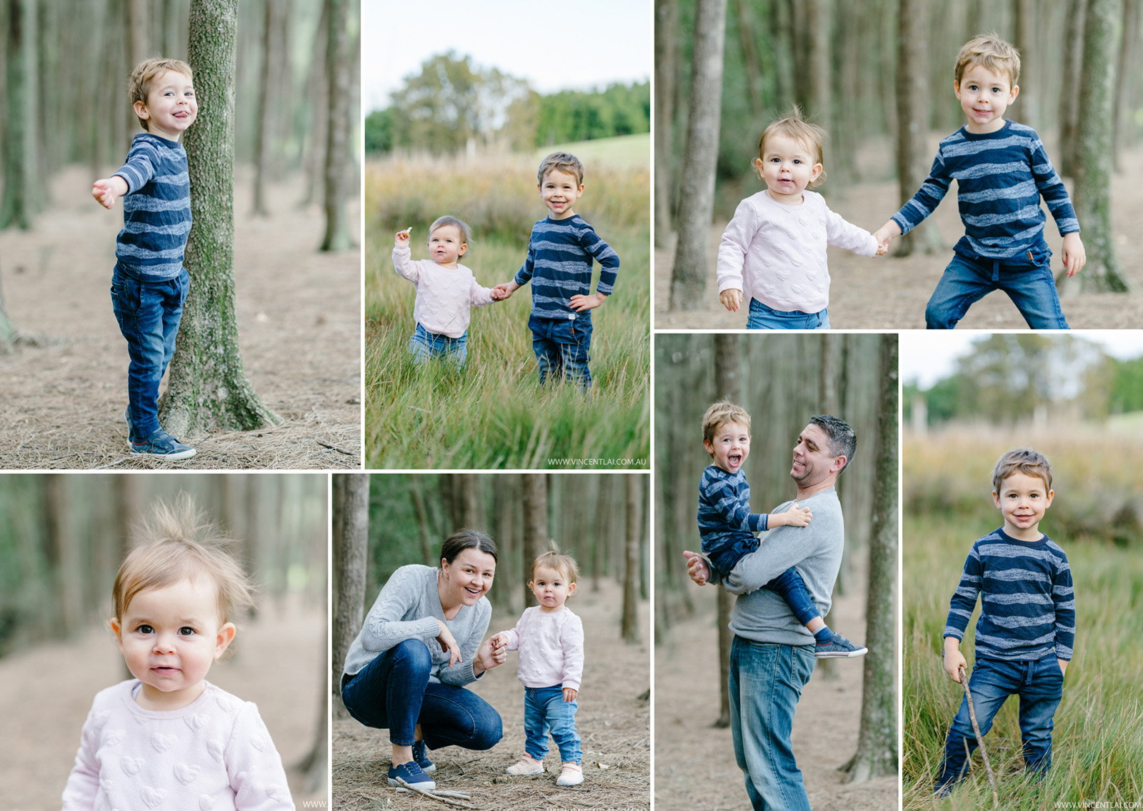Winter Family Photo Session at Bicentennial Park Homebush