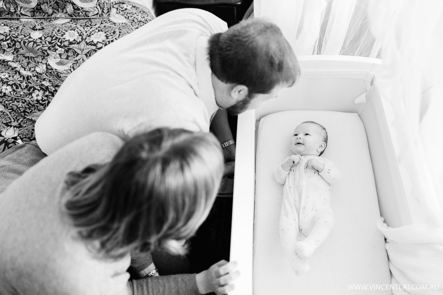 Lovely lifestyle newborn photo session of baby Jackie