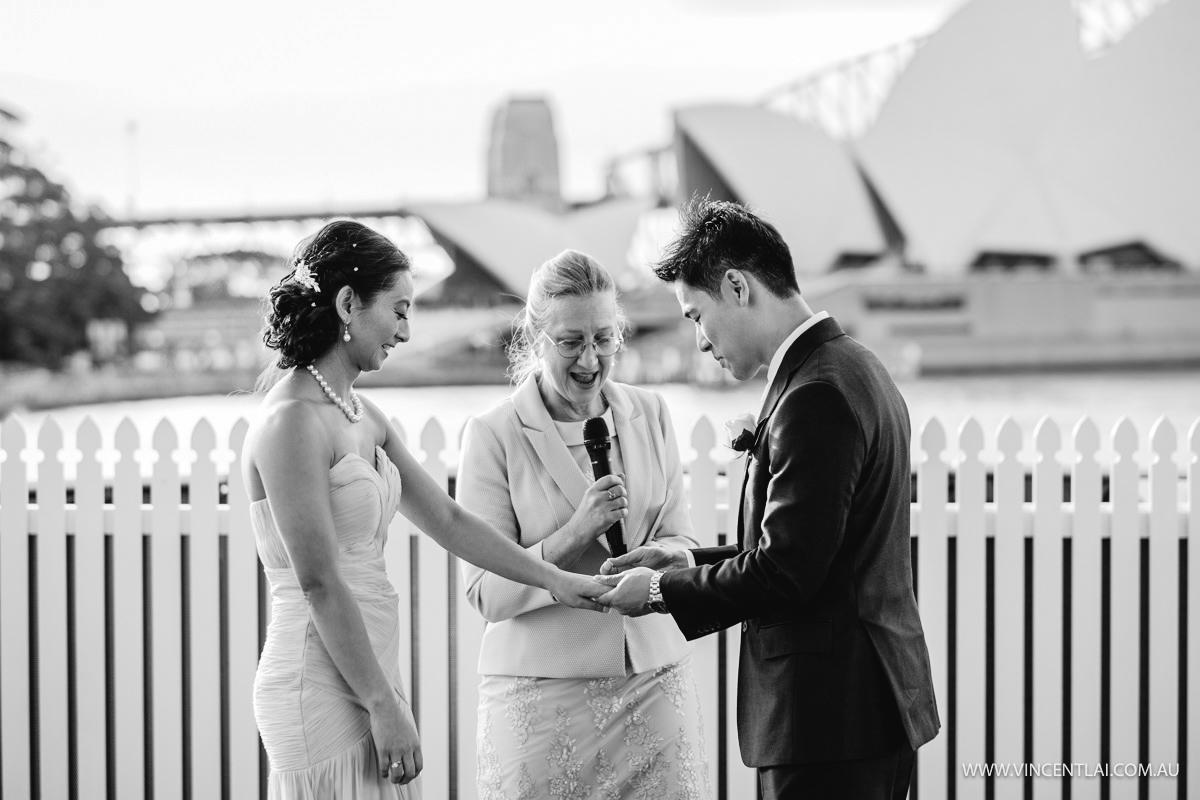 Civil Wedding Ceremony on Pontoon Boat