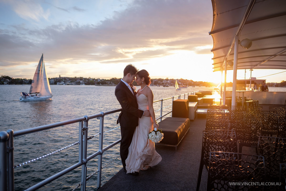 Sydney Harbour Wedding on The Pontoon Boat