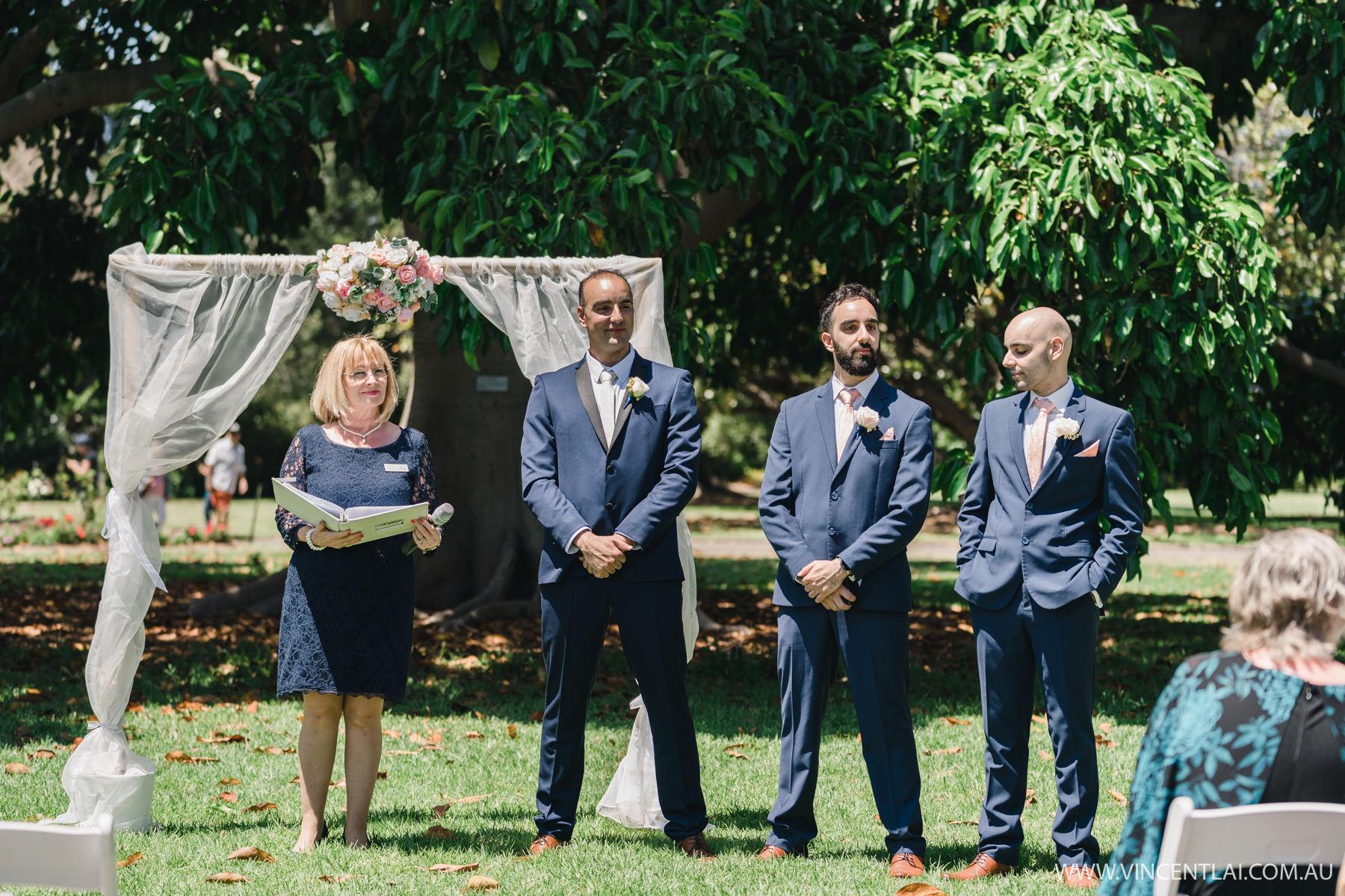 Wedding at RoyalBotanicGarden'sRose Garden Pavilion and Lawn