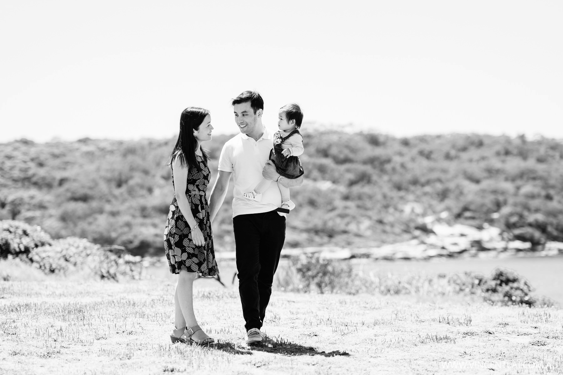 Family Photos at Bare Island Fort La Perouse
