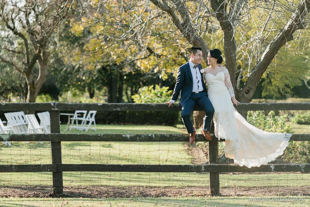 Winter Garden Wedding Gledswood Homestead Winery