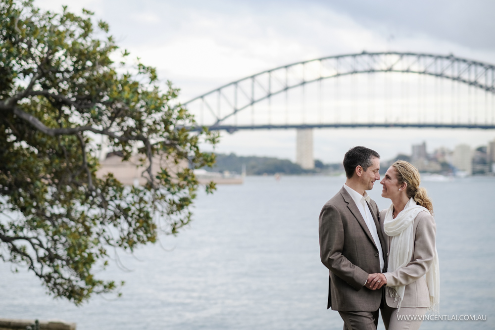 Wedding at Mrs Macquarie's Point