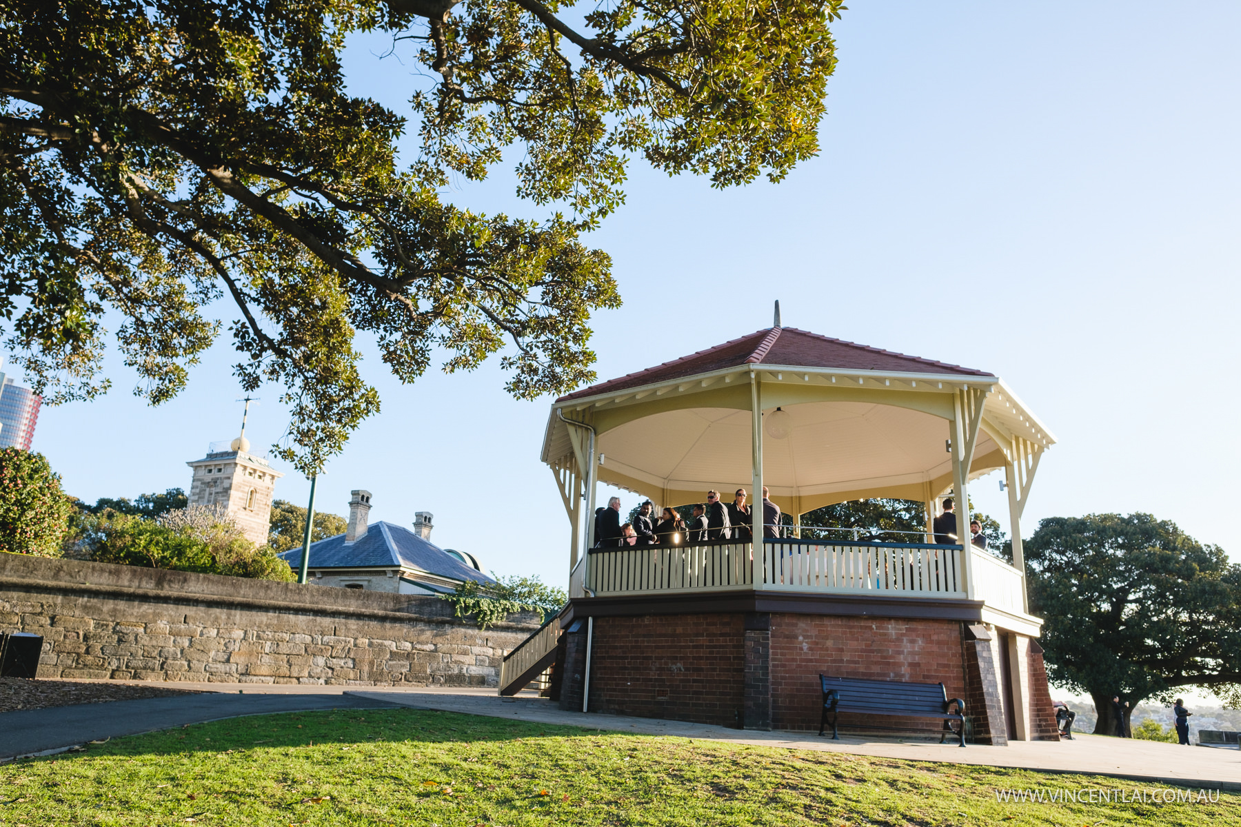 Wedding Ceremony at Observatory Hill Rotunda